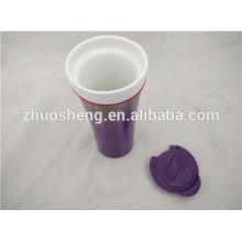 heiße neue Produkte für 2015 Edelstahl unten Porzellan Keramik Becher, Keramik Becher Tasse