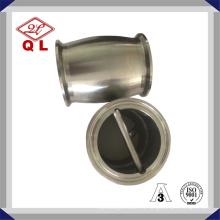 Válvula de retención sanitaria de acero inoxidable Tipo de bola con boquilla ambos extremos