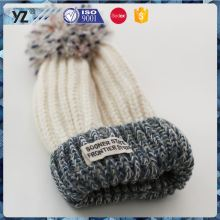 New product special design acrylic wool knit hat China wholesale