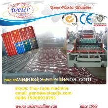 Telhado ondulado de plástico pvc que faz a máquina
