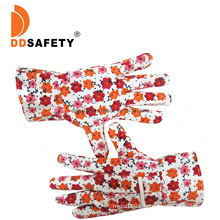 Cotton Prints PVC Dotted Dn Dalm Work Garden Gloves