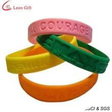 Moins cher Silicone Bracelet personnalisé pour la publicité (LM1626)