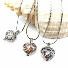 1 Set Love Best Wish Necklace Pearl Heart Pendant