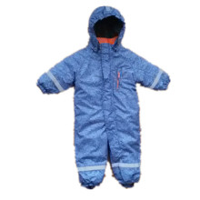 Light Blue Hooded Reflective Waterproof Jumpsuits for Baby/Children