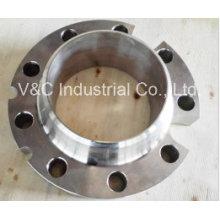BS En1092-1 Forjado em aço inoxidável Wn Flange com slot de cabo
