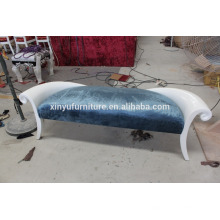 white color wood frame Loveseat sofa XYN2507