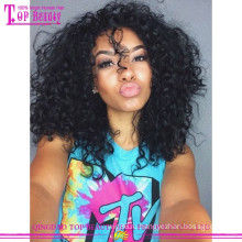 Высокое качество кружева перед парик 100% бразильский странный вьющиеся человеческих волос парик для чернокожих женщин