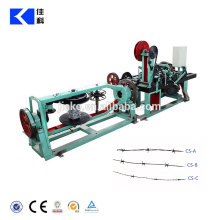High efficiency barbed wire making machine