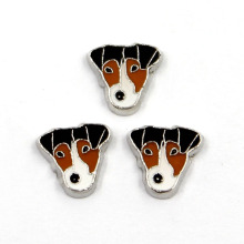 Moda animal cão liga encantos locket flutuante