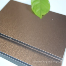 4mm Brushed Aluminum Composite Panel ACP in Guangzhou Factory