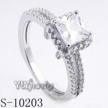 Alta qualidade 925 prata esterlina anel CZ (S-10203)
