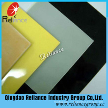 Verre peint blanc 4-8mm / verre peint noir / verre de support