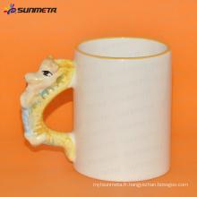 Sublimation tasse blanche animale dragon