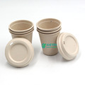 Anhui EVEN Hot Sale 100% Biodegradable Disposable Sugarcane Bagasse Coffee Cup Mug Set With Lid