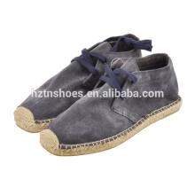 Прочные искусственные замшевые люди зашнуровывают повседневную джуту для обуви