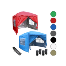 Outdoor folding tent with window
