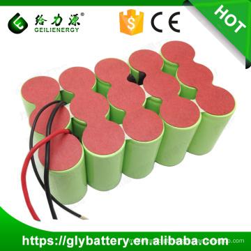 Ni-CD de alta capacidade 18V 3000mAh / 4000mah / 5000mAh bateria recarregável tamanho D