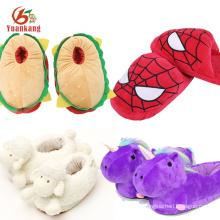 Engraçado Animal Chinelos Personalizado Tartaruga Marinha / Burro / Anime / Emoji / Camarão / Tubarão / vaca / unicórnio / cabra / hambúrguer / aranha chinelo de pelúcia para crianças