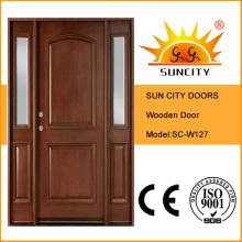 American Modern Design Puerta de madera de roble sólido con Jamb (SC-W127)