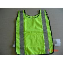 100% polyester Veste de sécurité à haute visibilité