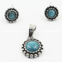 Chine Wholesale 316L Opal Jewelry Sets Pendentifs Pendentif