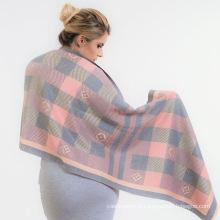 New colors femmes châles surdimensionnés wraps douce longue prime viscose plaid hijab écharpe