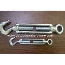 Marine Hardware Carbon Steel Galvanized Type Wire Rope Turnbuckle