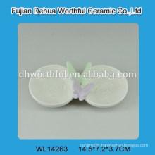 Tableware seasoning ceramic dish 2pcs in a set