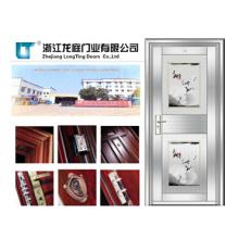 201 Stainless Steel Single Door Glass Door (LTSS-9011)