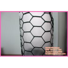 "BWG 16 1"" vinyl coating galvanized hexagonal cage chicken wire netting"