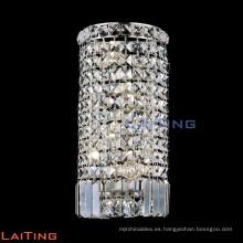 Hotel pasillo redondo pared de cristal aplique de pared de cristal de cromo 32439