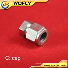 Extremidade do tubo 316 adaptador de plugue industrial de aço inoxidável