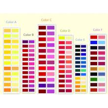 Pigments red, yellow, blue, green, black, white
