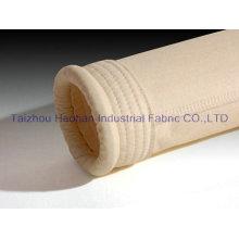 Sac de filtre à feutrine à aiguille Aramid pour usine de ciment