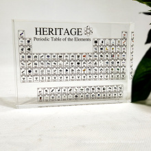 Acrylic Periodic Table Display With/W Elements Kids Teaching School Day Birthday Gifts Chemical Element Display Card Home Decor