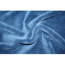 Solid flannel wool fabric