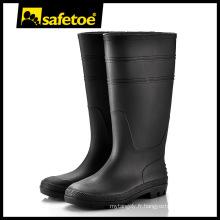 Bottes à talons hauts, bottes en plastique pour hommes, bottes de pluie femme taille 12 W-6036