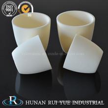 Al2O3 High Temperature Refactory Alumina Melting Ceramic Crucible