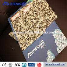 Alucobond Timber and marble finished pe & pvdf 2mm aluminum composite plate