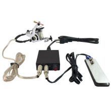 PS108007 NEW Pro Tattoo Machine Power Supply Kit Set w/ Clip Cord Flat Foot