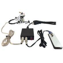 PS108007 NEW Pro Tattoo Machine Power Supply Kit Set w/ Clip Cord Flat Foot