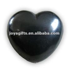 40MM Hematite Stone Hearts