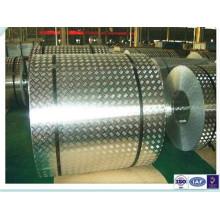 Placa de verificador de alumínio anti-deslizamento para bobinas