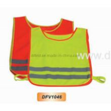 Hoch sichtbare Sicherheitsweste für Kinder mit elastischem Verschluss (DFV1046)