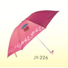 Ручная открытая реклама 3 складчатого зонтика (JY-226)