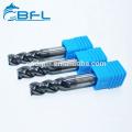 BFL-Wolframkarbid-4-Vierkant-Schaftfräser für Edelstahl-CNC-Bearbeitung