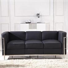 Escritório moderno clássico couro sofá LC2