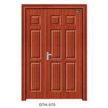 Porta interior da porta de madeira da porta do PVC (DTH-070)