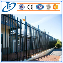 Powder coated horizontal garrison fence
