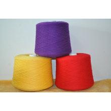 Le fil de coton régénéré par Hb965 a mélangé le fil à tricoter de machine de cône en gros